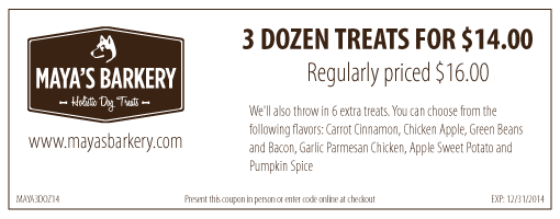 3 Dozen Treats for $14.00